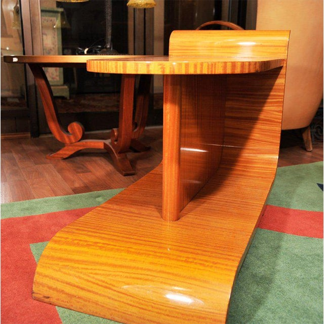 Wood Unusual Art Deco Occasional Table For Sale - Image 7 of 10