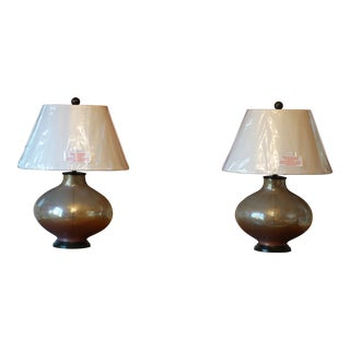 Pezzato Art Glass Lamps From Currey & Company - A Pair For Sale