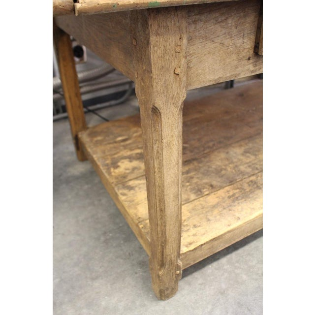 19th Century French Fabric Table With Drawers For Sale In Nashville - Image 6 of 6