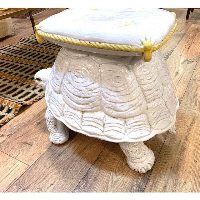 Glass Mid Century Pair, Italian Turtle Garden Seats For Sale - Image 7 of 12