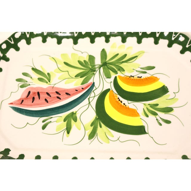 Country Italian Zanolli Faience Fruit Platter For Sale - Image 3 of 6