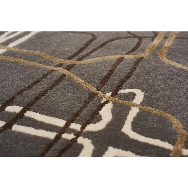 Schumacher Schumacher Movement Abstract Area Rug in Hand-Tufted Wool Silk, Patterson Flynn Martin For Sale - Image 4 of 7
