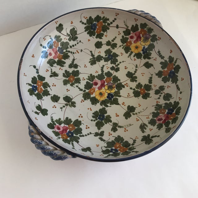 Vintage Rustic Tuscan Pottery Bowl For Sale - Image 9 of 12