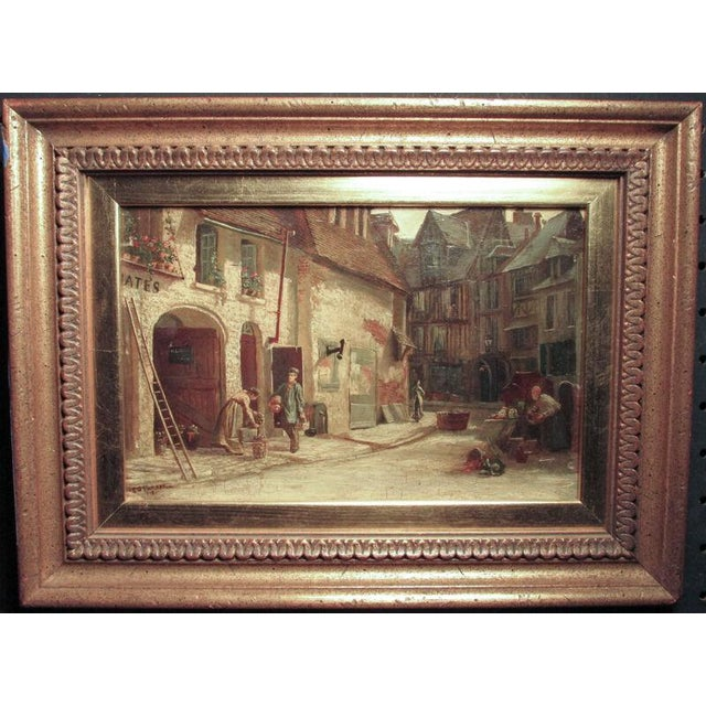 Late 19th Century Late 19th Century Antique Ellen Grace Parker British Genre Scene Oil Painting For Sale - Image 5 of 5