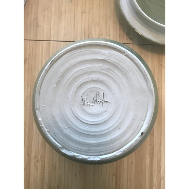 Green Studio Pottery Lidded Casserole Dish For Sale - Image 8 of 10