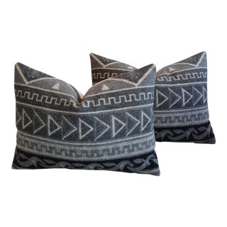 1950s Trading Camp Wool Blanket Pillows - A Pair