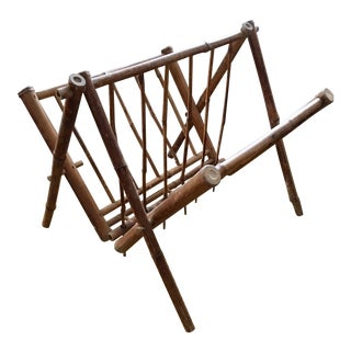 Antique Bamboo English Magazine Rack