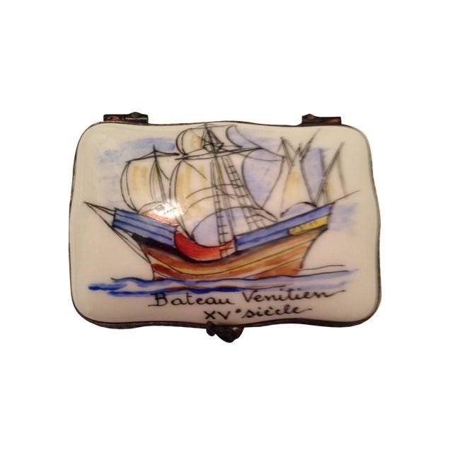 Vintage French Porcelain Box - Image 1 of 5