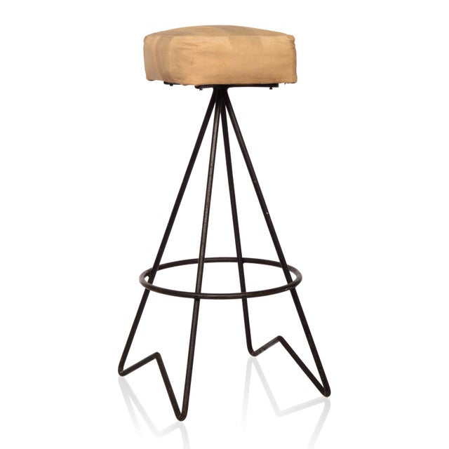 Mid-Century Hairpin Leg Bar Stools - Set of 4 - Image 2 of 2