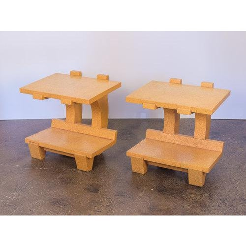 Kevin Walz Cork Side Tables - a pair For Sale - Image 10 of 11