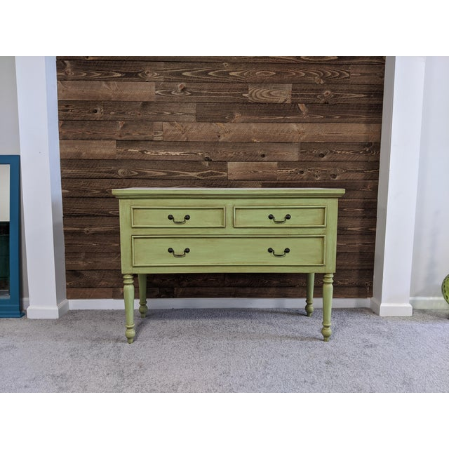 1950s Mid Century Green Chest With Drawers For Sale - Image 9 of 13