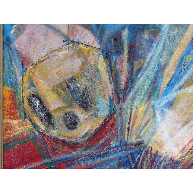 "1990s 1990s Edith Ferul ""The Bumble Bee"" Abstract Oil on Canvas Painting For Sale - Image 5 of 10"