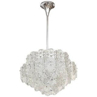 1960s Mid Century Modern Crystal Chandelier by Kinkeldey For Sale