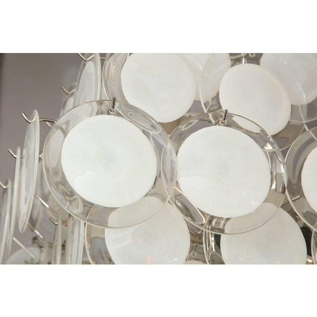 2010s Murano Glass Disc Chandelier For Sale - Image 5 of 10