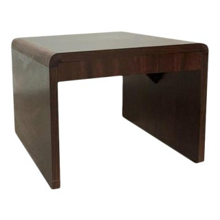 Mid-Century Modern Waterfall Side Table in the Style of Milo Baughman For Sale