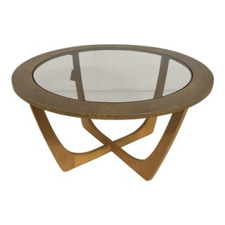 1970's Vintage G Plan Astro Glass Top Coffee Table For Sale
