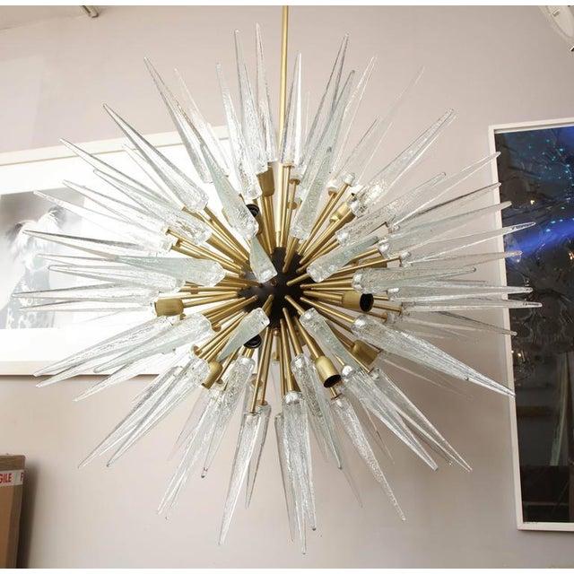 Stunning Murano Glass Spike Sputnik Chandelier For Sale - Image 9 of 10