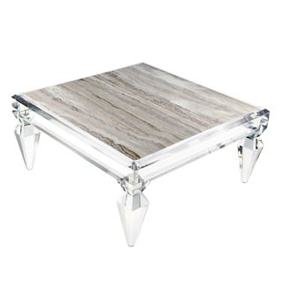 Customizable Avenire Lucite Coffee Table by Craig Van Den Brulle / 6363 For Sale