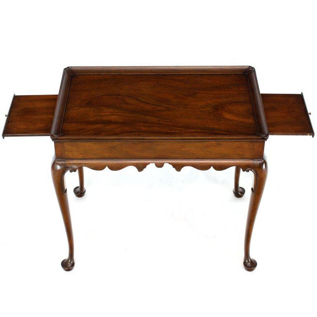 1970s 1970s Queen Anne Kittinger Cw-8 Mahogany Tea Table For Sale - Image 5 of 13