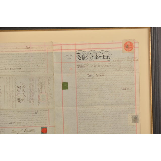 Early 19th Century English Double Sided Indenture Document For Sale - Image 4 of 4
