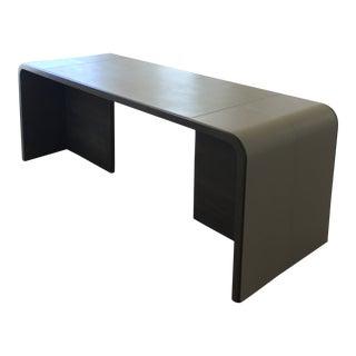 Marcali Custom Leather & White Oak Desk For Sale
