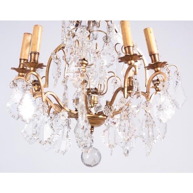 19th Century French Napoleon III Crystal Chandelier For Sale - Image 4 of 13