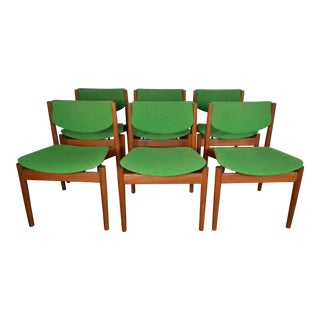 Finn Juhl for France & Son Set of Six Teak Dining Chairs For Sale