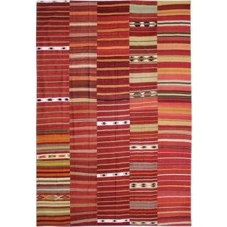 Aara Rugs Inc. Hand Knotted Patchwork Kilim - 9′9″ × 13′