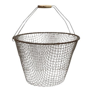 Early 20th Century Large French Produce / Storage Basket For Sale