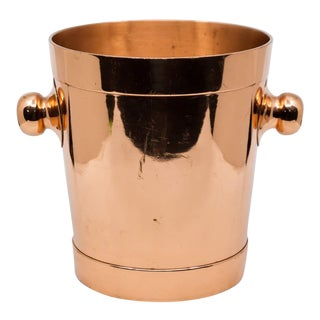 1920s Minimalistic Joseph Heinrichs Copper Ice Bucket For Sale