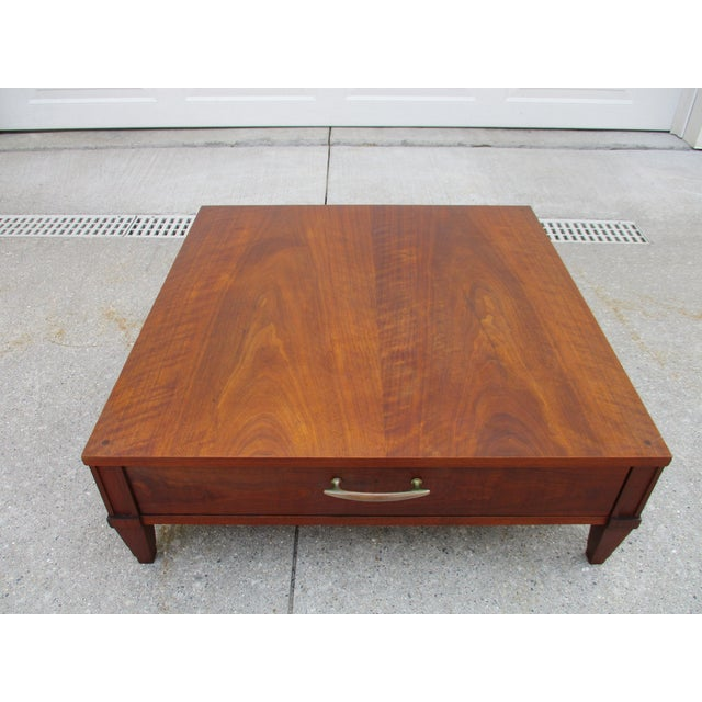 Baker Milling Road Walnut Low Side or Display Table For Sale - Image 12 of 12