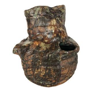 1970s Hand Made Ceramic Vase For Sale