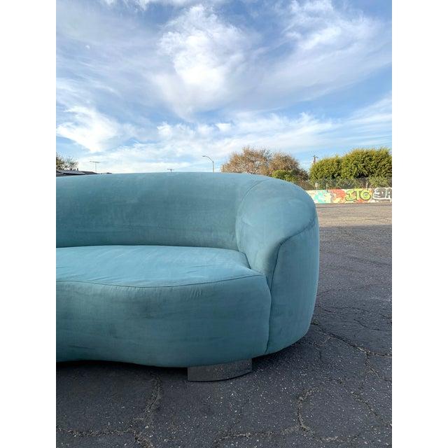 Minimalism 1980s Vintage Kagan Style Sofa For Sale - Image 3 of 13