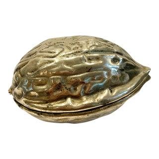 Mid 20th Century Brass Nutcracker in Walnut Shape For Sale