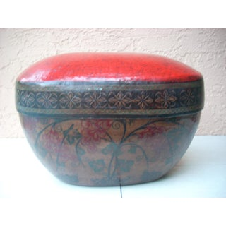 Red Burmese Bamboo Box Preview