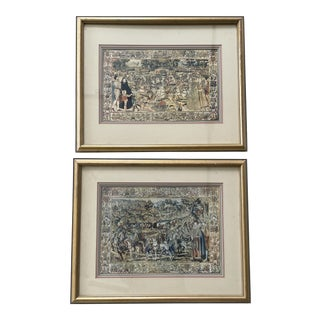 Mid 20th Century Instituto Fotormo Renaissance Style Italian Prints, Framed - a Pair For Sale