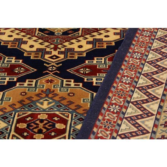 Textile Sherwan Sheridan Blue/Ivory Wool Rug - 4'4 X 5'11 For Sale - Image 7 of 8