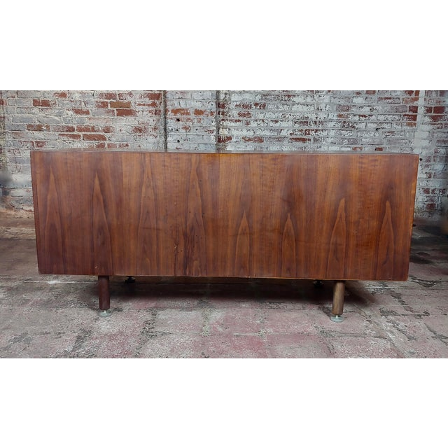 Brown Jens Risom -Danish Mid Century Modern Walnut Credenza-C1950s For Sale - Image 8 of 10