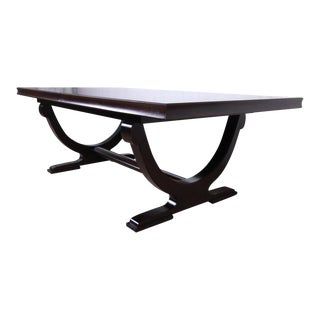 Barbara Barry for Baker Dark Mahogany Extension Dining Table, Newly Restored For Sale