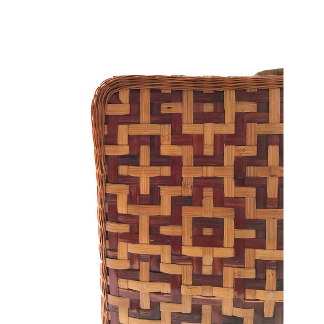 Geometric Weave Basket Trunk - Image 6 of 8