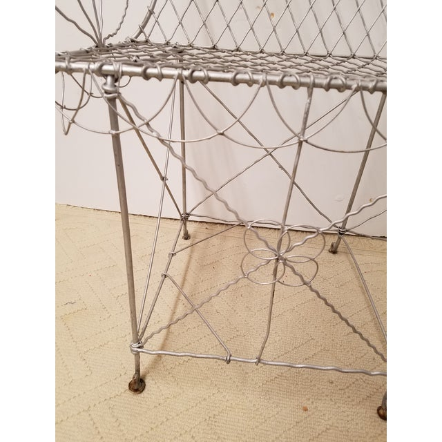 Late 19th Century Victorian Wire Garden Settee or Bench For Sale - Image 5 of 5