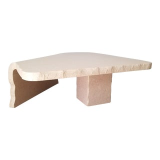 1980's Postmodern Freeform Laminate Coffee Table For Sale