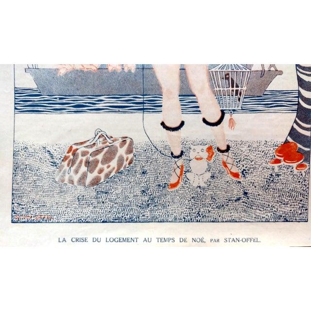 """Art Deco 1920 Stan Offel Le Sourire """"Noah's Ark"""" Print For Sale - Image 3 of 5"""