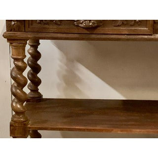 19th C. English Carved Oak Marble Top Server Preview