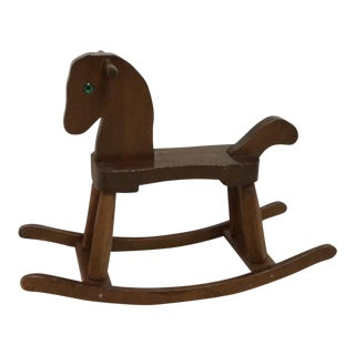 Solid Wood Rocking Horse For Sale
