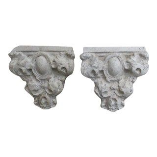 C. 1930 Architectural Elements Made Into Wall Brackets - a Pair For Sale