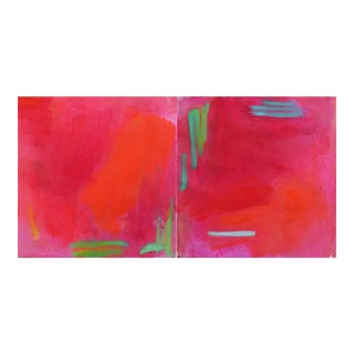 """Miami Duo"" Mini Abstract Oil Paintings by Trixie Pitts"