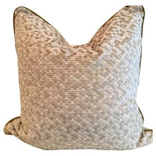 Soft Celedon Green Cut Velvet Pillows - Pair