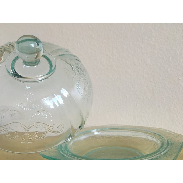 Depression Era Mint Glass Lidded Serving Dish - Image 8 of 8