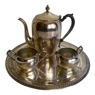 f.b. Rogers Silver Co. 4 Piece Tea Set For Sale
